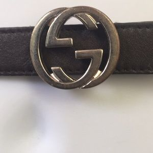 Brown Red  & Green Gucci Belt